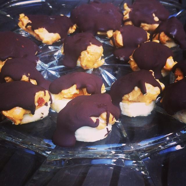 Sund peanutbutter snack med chokolade