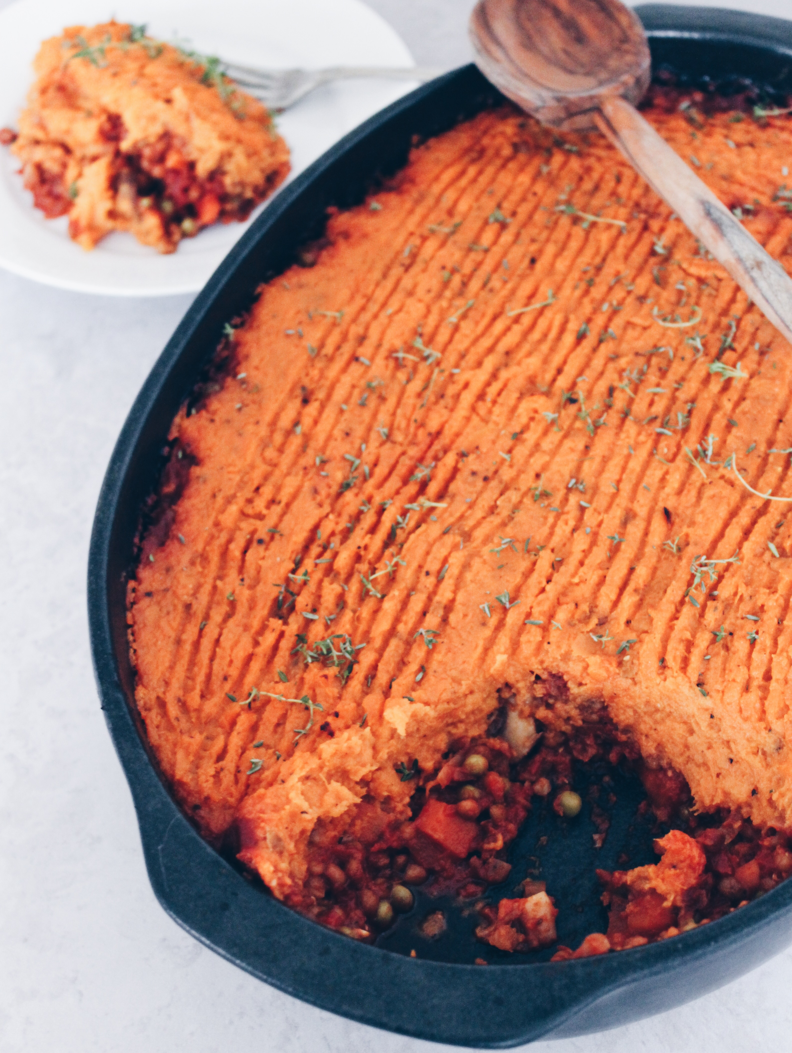 Vegansk shepherds' pie