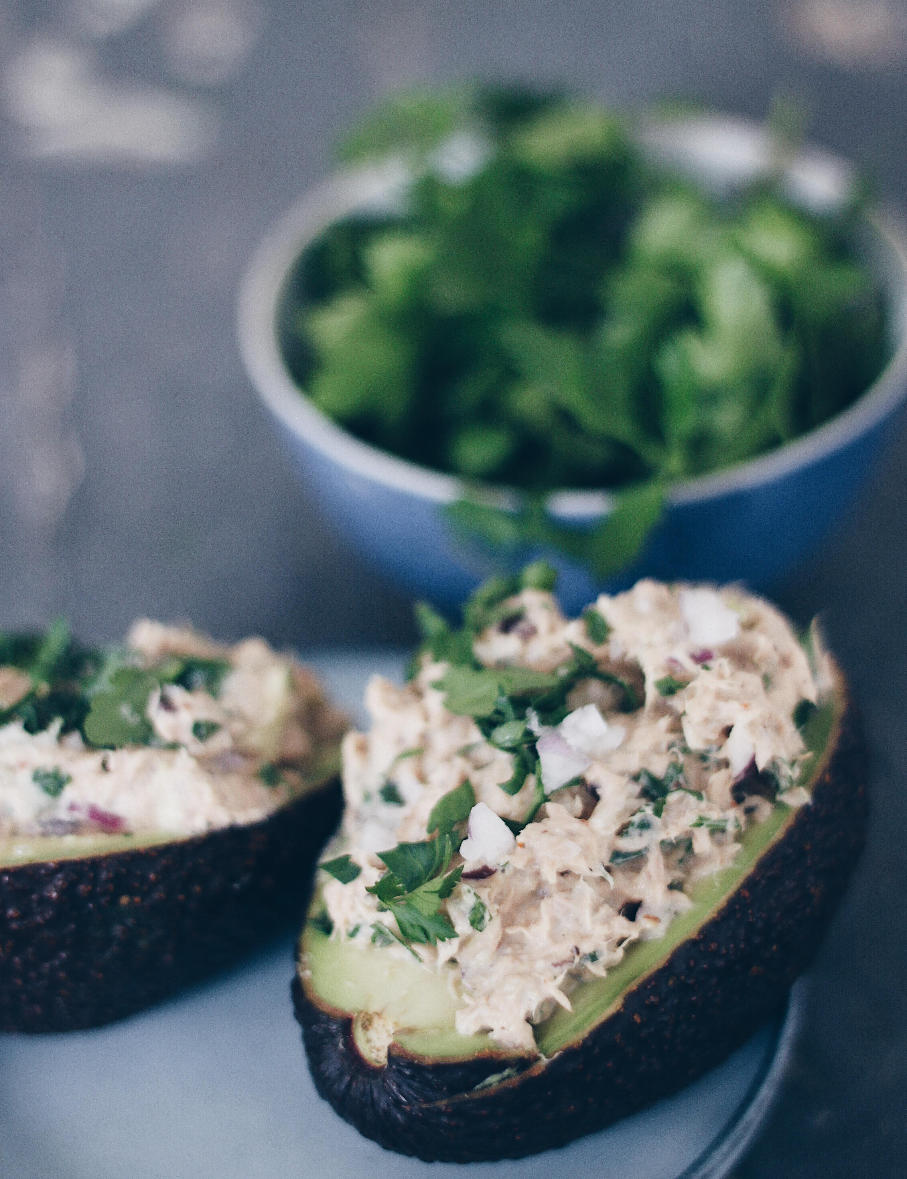 Avocado med tunsalat