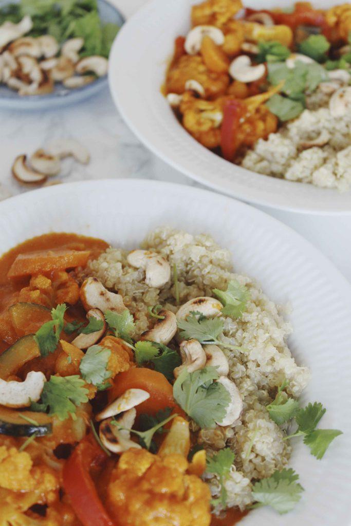 Vegetar panang curry med peanut butter