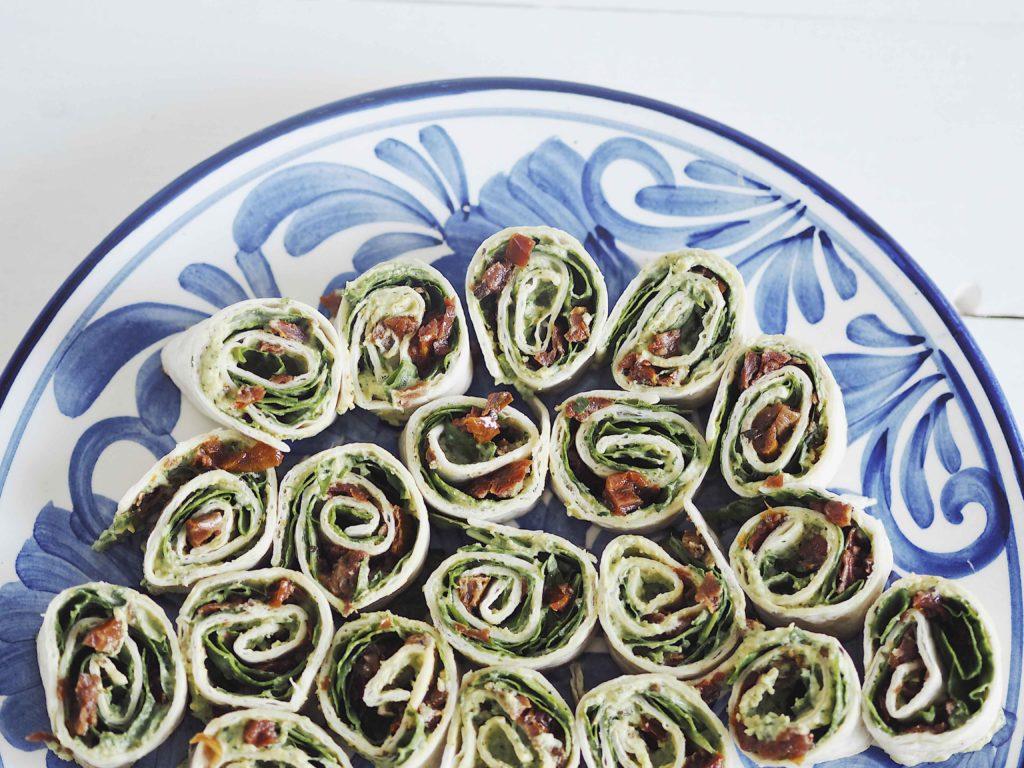 Tapas wraps med hummus