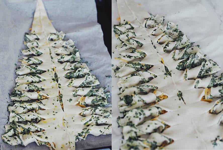 Butterdejs juletræ med spinat 1
