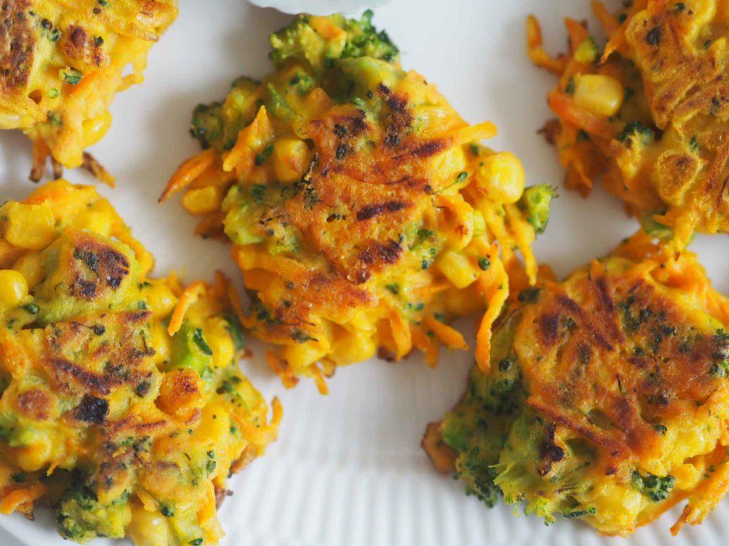 Kikærtepandekager med grøntsager