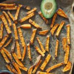 søde kartoffel fritter