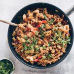 Pikant pasta med kylling og bacon 1
