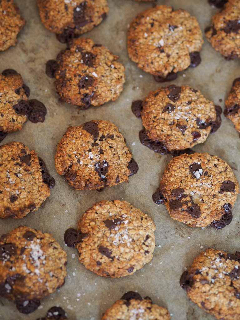 Sunde cookies med peanutbutter og mørk chokolade 3