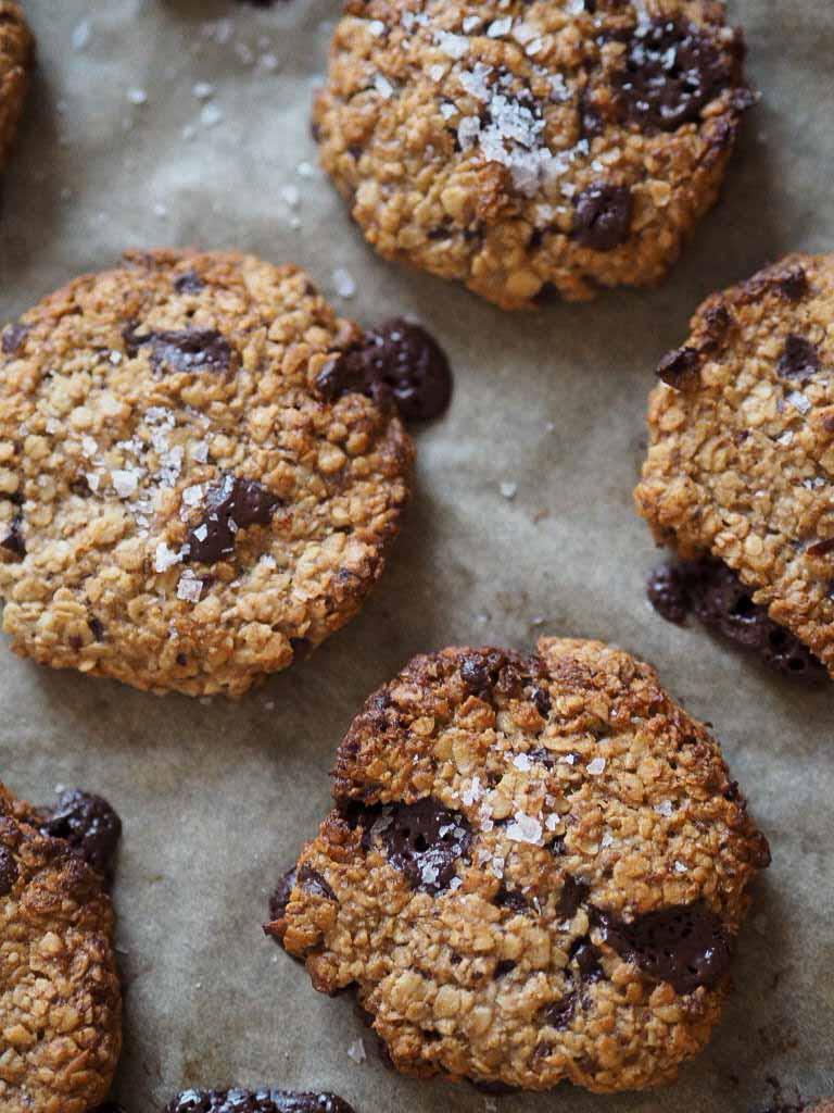 Sunde cookies med peanutbutter og mørk chokolade 4