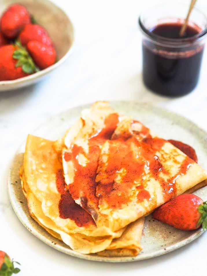 hjemmelavet værtindegave jordbærsirup