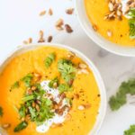 Butternut squash suppe med røde linser 4