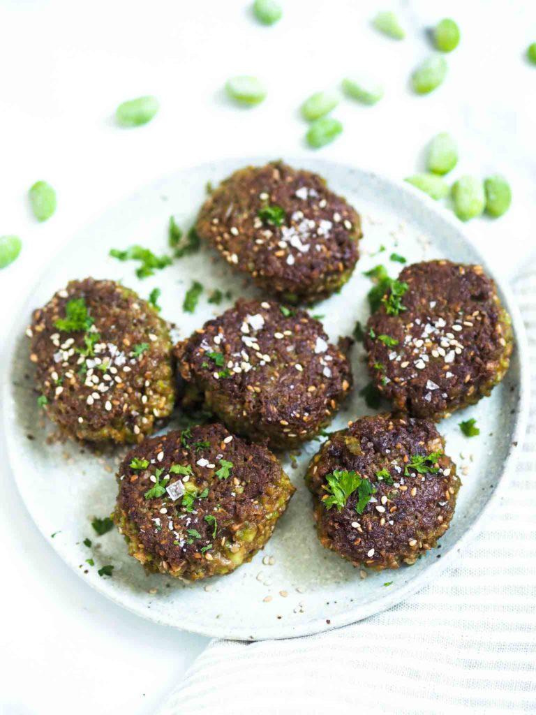 Vegetariske edamamedeller med miso