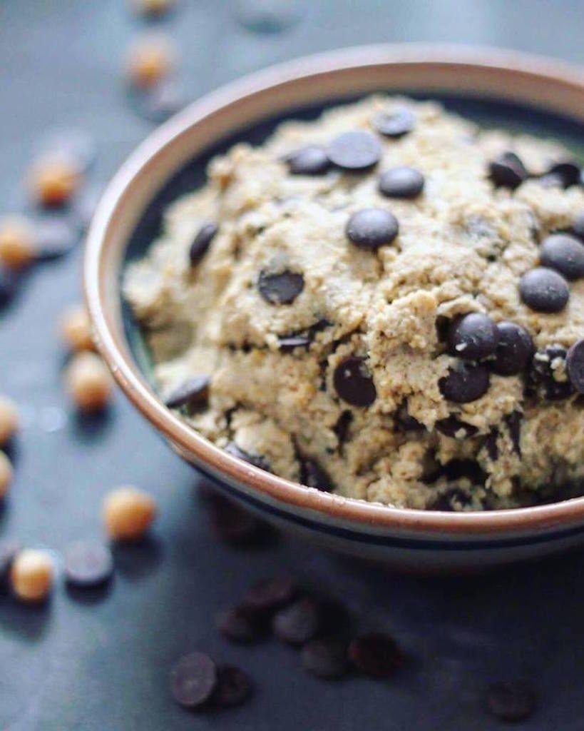 Rå cookie dough med kikærter