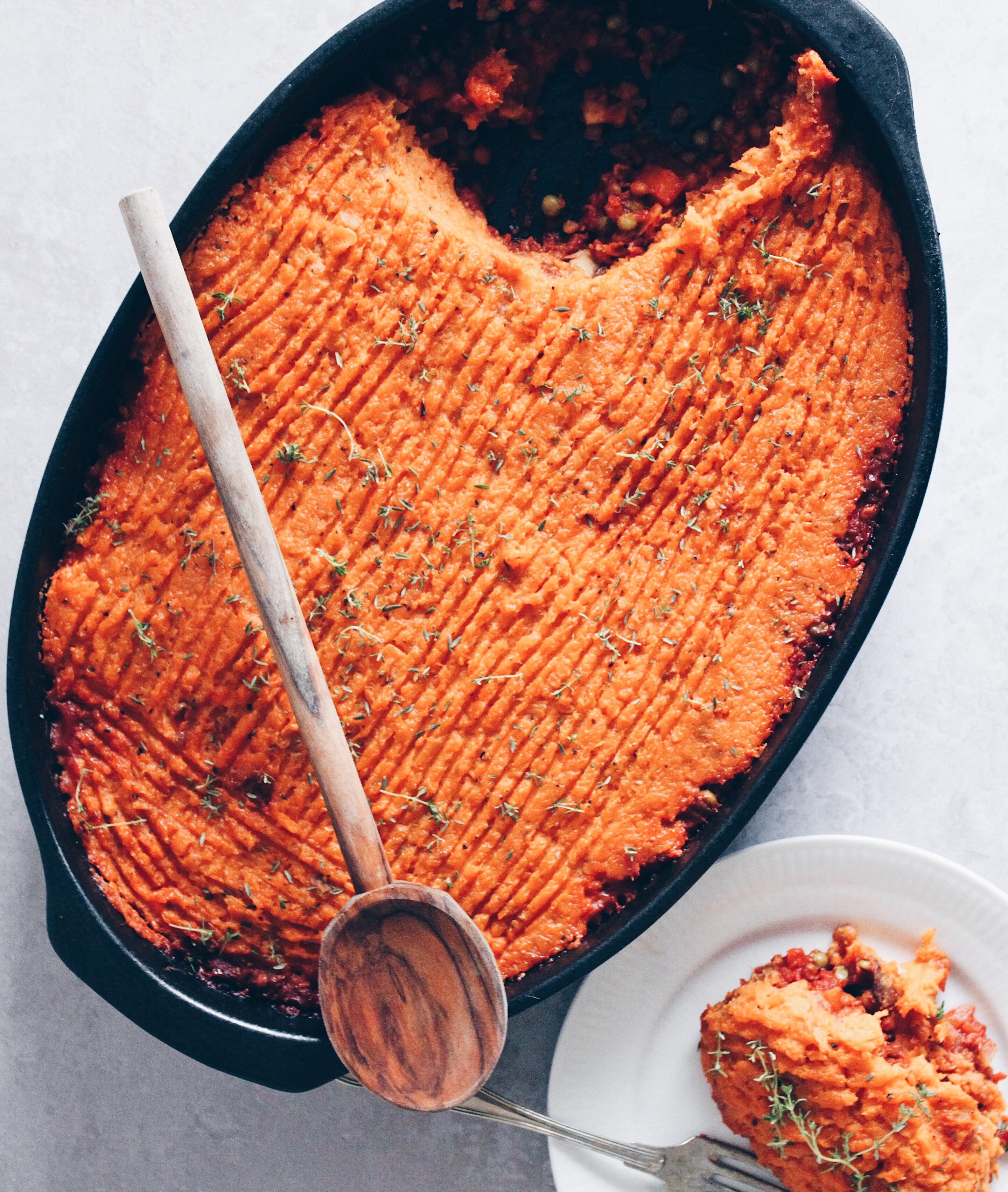 Vegansk shepherds' pie