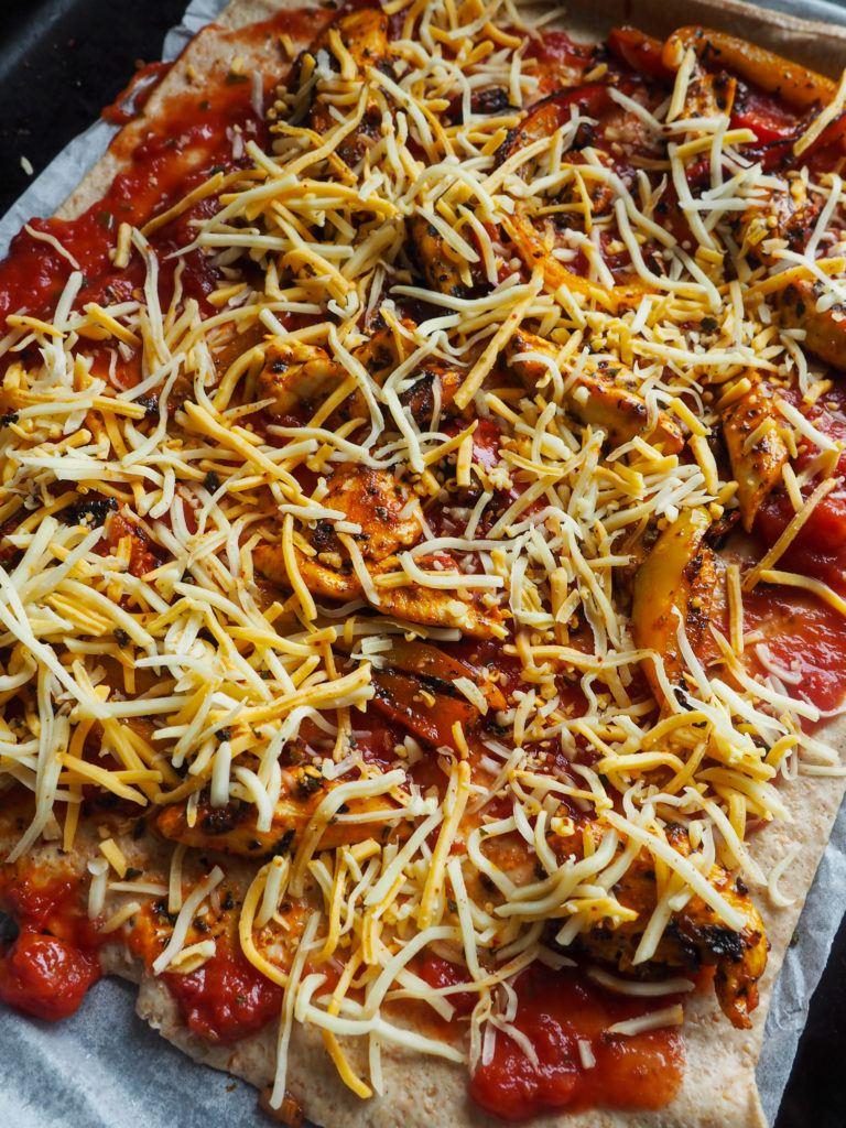 pizza med kylling