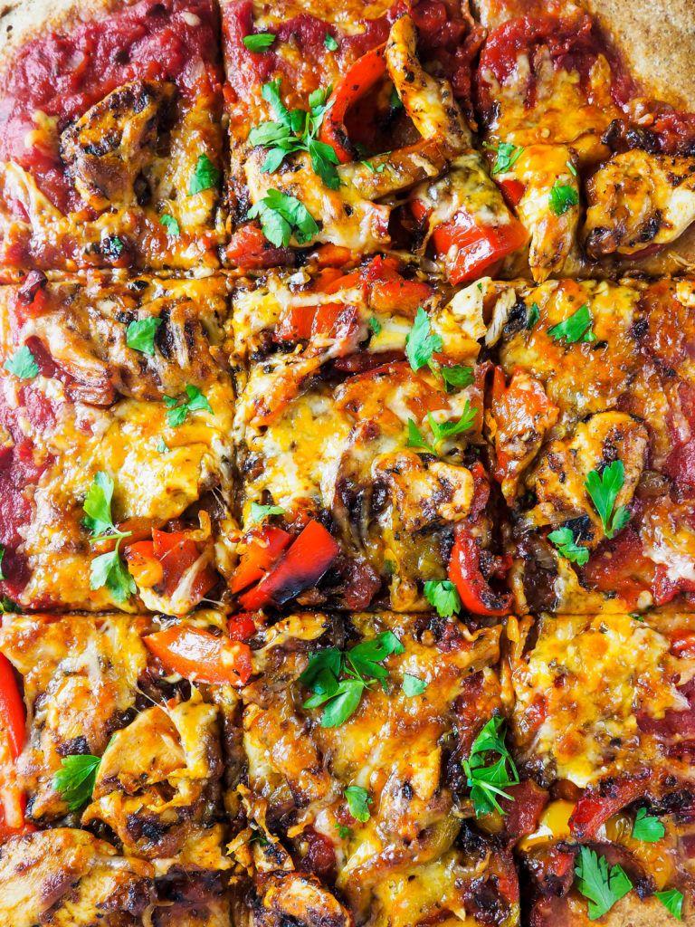 hjemmelavet pizza med kylling